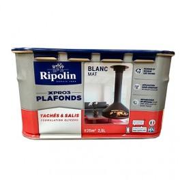 RIPOLIN Peinture XPro3 Plafonds Tachés & Salis Blanc Mat