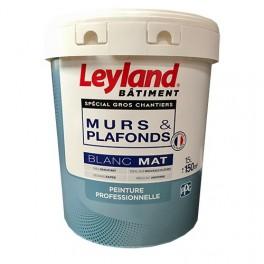 LEYLAND Peinture Murs & Plafonds Blanc Mat 15L