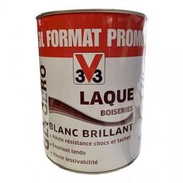 V33 Laque Boiseries Glycéro Blanc Brillant 3L