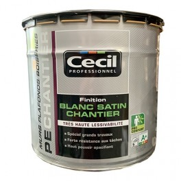 CECIL PE Chantier Finition Blanc satin