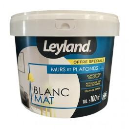 LEYLAND Peinture Murs & Plafonds Blanc Mat 10L