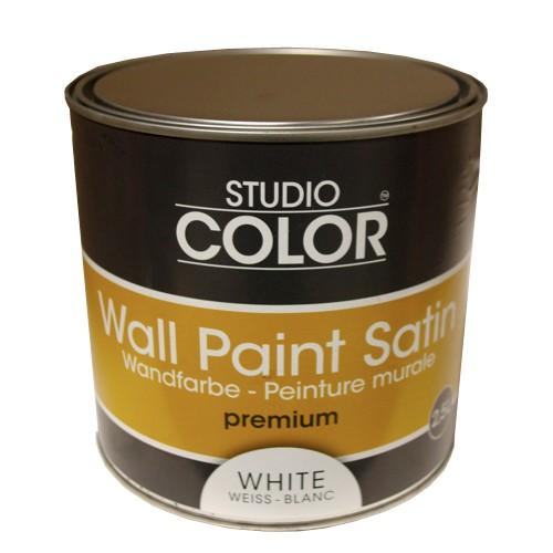peinture studio color wall paint satin premium blanc pas cher en ligne. Black Bedroom Furniture Sets. Home Design Ideas