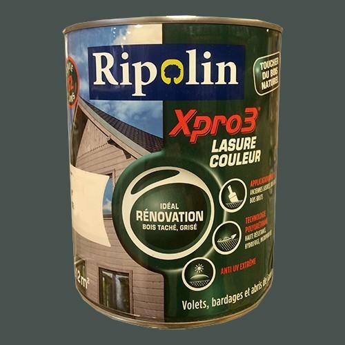 RIPOLIN Lasure Opaque XPro3 Rénovation Gris cendré