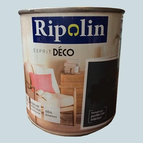 "RIPOLIN Peinture Acrylique ""Esprit Déco"" Bleu ciel satin"