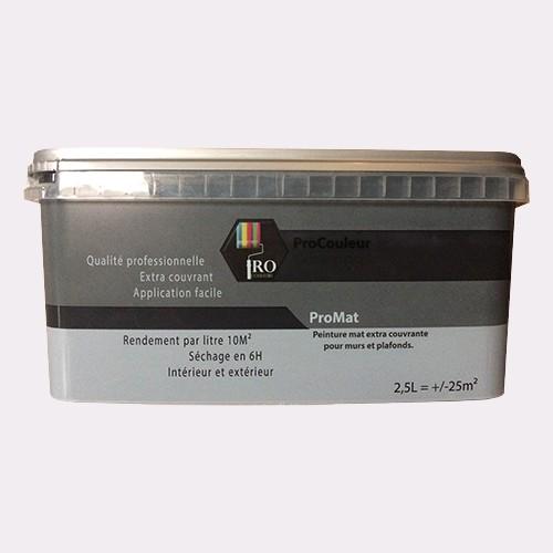 Pro Couleurs Peinture Acrylique Mat 2 5l Gris Ciment De La Marque Pro Couleurs