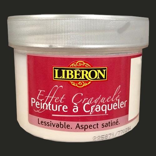 LIBÉRON Effet craquelé 0,25L Noir de jais