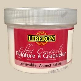 LIBÉRON Effet craquelé 0,25L Blanc ivoire