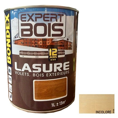 BONDEX Lasure Expert Bois 12 ans Incolore