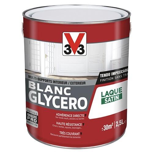 V33 Laque Blanc Glycéro Satin