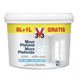 V33 Peinture Murs & Plafonds Blanc Mat