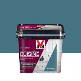V33 Déco LAB Peinture Multi-Matériaux Cuisine Bleu pétrole