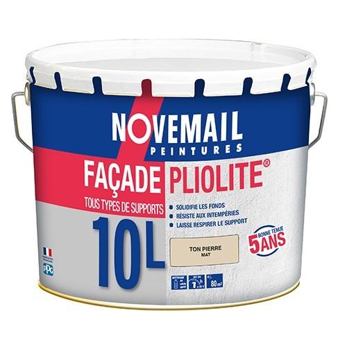 NOVEMAIL Peinture Façade Pliolite Ton Pierre 10L