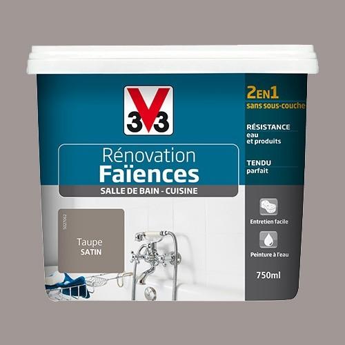 V33 Rénovation Faïences Taupe Satin