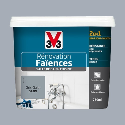 V33 Rénovation Faïences Gris galet Satin
