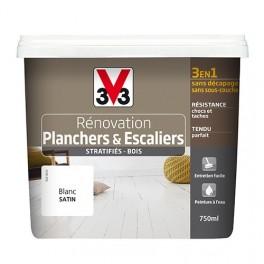 Peinture V33 Rénovation Planchers & Escaliers (Stratifiés-Bois) Blanc