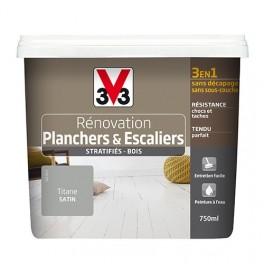 Peinture V33 Rénovation Planchers & Escaliers (Stratifiés-Bois) Titane
