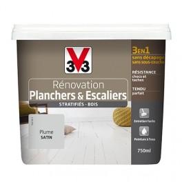 Peinture V33 Rénovation Planchers & Escaliers (Stratifiés-Bois) Plume