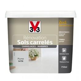 Peinture V33 Rénovation Sols Carrelés (Carrelages - Marbres) 2 en 1 Satin Plume