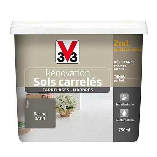 Peinture V33 Rénovation Sols Carrelés (Carrelages - Marbres) 2 en 1 Satin Racine