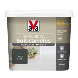 Peinture V33 Rénovation Sols Carrelés (Carrelages - Marbres) 2 en 1 Satin Tarmac