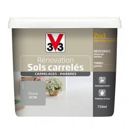Peinture V33 Rénovation Sols Carrelés (Carrelages - Marbres) 2 en 1 Satin Titane