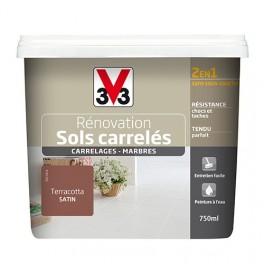 Peinture V33 Rénovation Sols Carrelés (Carrelages - Marbres) 2 en 1 Satin Terracotta