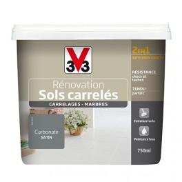 Peinture V33 Rénovation Sols Carrelés (Carrelages - Marbres) 2 en 1 Satin Carbonate