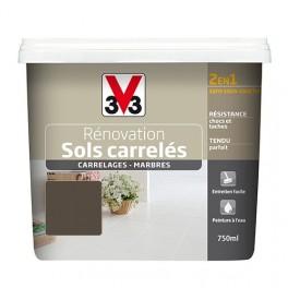 Peinture V33 Rénovation Sols Carrelés (Carrelages - Marbres) 2 en 1 Satin 2L Taupe irisé