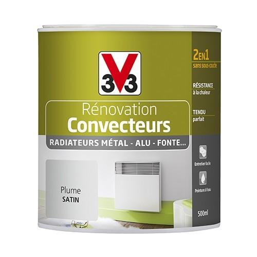 Peinture V33 Rénovation Convecteurs/Radiateurs 0,5L Plume