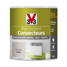 Peinture V33 Rénovation Convecteurs/Radiateurs 0,5L Flanelle