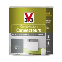 Peinture V33 Rénovation Convecteurs/Radiateurs 0,5L Graphite