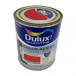 Dulux Valentine Peinture acrylique Color Resist Cuisine & Bain Rouge industriel