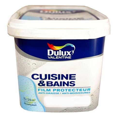 Dulux valentine cuisine et salle de bains blanc satin 2l for Dulux valentine salle de bain