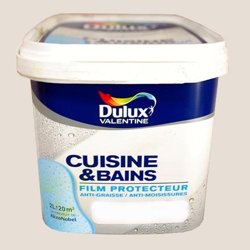 Dulux valentine cuisine et salle de bains galet satin 2l for Dulux valentine cuisine et bain