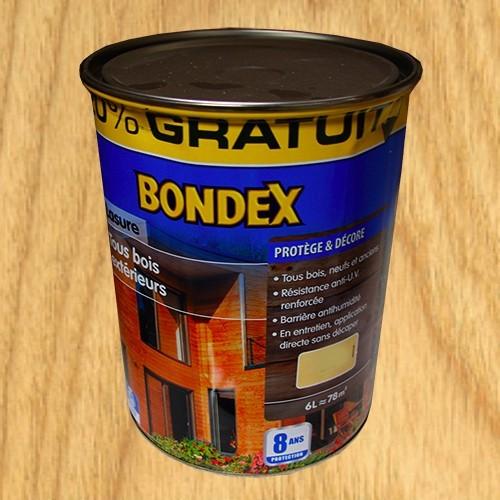 Bondex lasure tous bois ext rieur 8 ans ch ne clair pas - Peinture bois exterieur pas cher ...