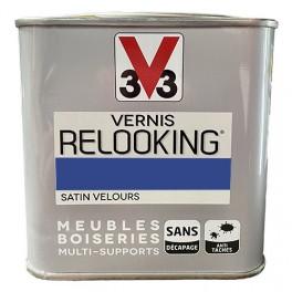 V33 Vernis Relooking Bleu Electrique Satin Velours