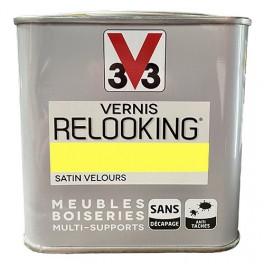 V33 Vernis Relooking Jaune Fluo Satin Velours