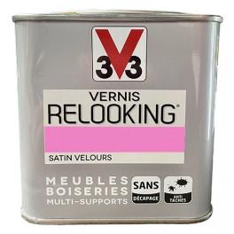 V33 Vernis Relooking Rose Fluo Satin Velours