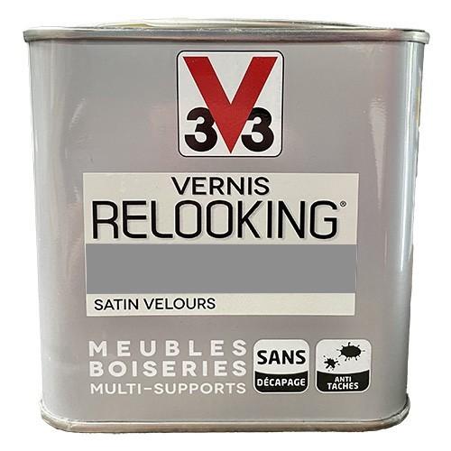 V33 Vernis Relooking Gris Poivre Satin Velours