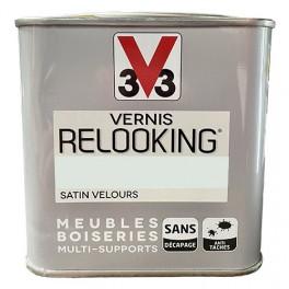 V33 Vernis Relooking Gris Nuage Satin Velours