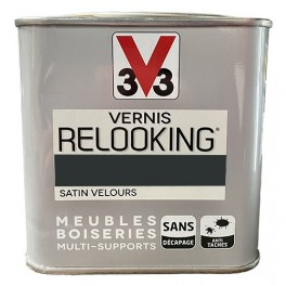 V33 Vernis Relooking Noir de Carbone Satin Velours
