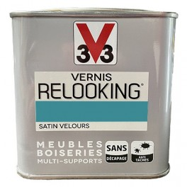 V33 Vernis Relooking Turquoise Tropical Satin Velours