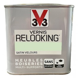 V33 Vernis Relooking Vert Amande Satin Velours