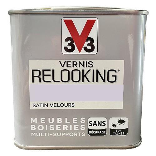 V33 Vernis Relooking Guimauve Satin Velours