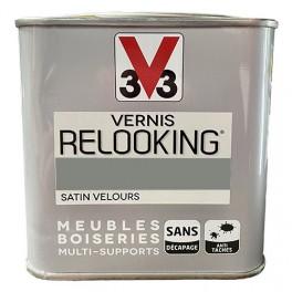 V33 Vernis Relooking Gris Feutre Satin Velours