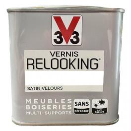 V33 Vernis Relooking Blanc Popeline Satin Velours