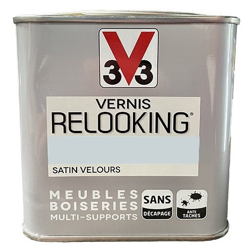 V33 Vernis Relooking Gris Galet Satin Velours