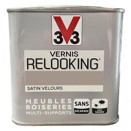 V33 Vernis Relooking Taupe Satin Velours