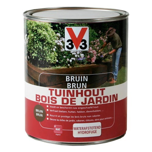 V33 Brun Bois de jardin