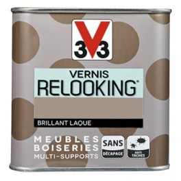 V33 Vernis Relooking Taupe Brillant Laque